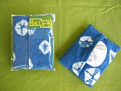 藍染めティッシュケース