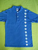 藍染めポロシャツ
